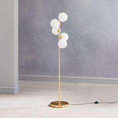 5 Light Floor Lamp, Glass Floor Lamp, Led Floor Lamp, West Elm Floor Lamp, Contemporary Floor Lamps, Modern Floor Lamps, Contemporary Bedroom, Modern Contemporary, Home Lighting