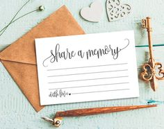 Share a Memory Card Memory Cards Share a by BlissPaperBoutique
