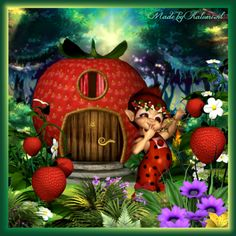 Knuffelgnome Strawberry
