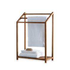 Teak Towel Rack - BedBathandBeyond.com