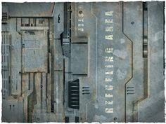 Image of Wargames terrain mat - 4'x4' space hulk theme