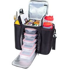 Six Pack Bag - 5 Meal Carrier plus extra room for shaker bottles, etc. Awesome! Someone please buy me one. Thanks!