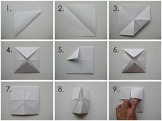 Jun 2017 - Do you remember making simple origami fortune tellers as a kid? These were so easy to make and so much fun to play. Origami Hand, Kids Origami, Origami Love, How To Make Origami, Origami Design, Origami Stars, Origami Flowers, Simple Origami, Origami Fortune Teller Template