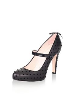 RED Valentino Women's Mary Jane Pump (Black)