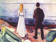 Edvart Munch, Two Human Beings, The Lonely Ones, 1905