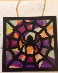 Stained glass spider craft