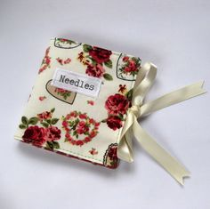 Handmade Sewing Needle Wallet with Hearts and Roses Print £6.00