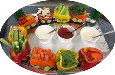 So happy to see this Veggie Train go 'viral' among our School Nutrition Association and Academy of Nutrition and Dietetics friends! Hoping to see versions from many holidays parties ... and school cafeterias in 2016.