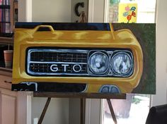 Painted this car for my dad's 60th birthday. His favorite car is a 69 Yellow GTO Judge.