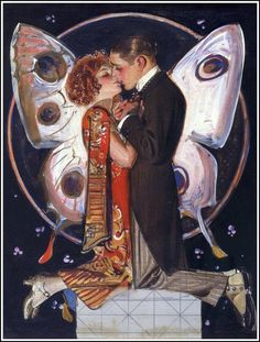 Butterfly kisses ~ J. C. Leyendecker, ca. 1920s