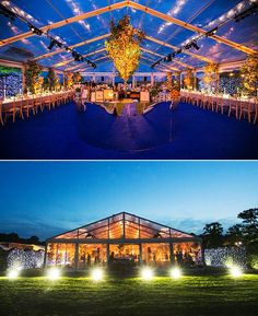 Sumptuously lit and decorated completely clear marquee with illuminated trees for a wedding reception Marquee Wedding, Tent Wedding, Clear Marquee, Canned Heat, Beautiful Inside And Out, Hot Days, Transparent, Reception, Wedding Ideas