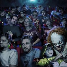 Horror Movies Funny, Horror Movie Characters, Scary Movies, Halloween Movies, Clown Horror Movie, Movies Quotes, Movie Memes, Indie Movies, Comedy Movies