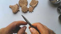 Terracotta or clay jewellery making - how to make drops -step 1 Terracotta Jewellery Making, Terracotta Jewellery Designs, Jewelry Making Tutorials, Clay Tutorials, Ceramic Jewelry, Clay Jewelry, Diy Essential Oil Diffuser, Teracotta Jewellery, How To Make Clay