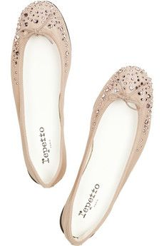 Repetto ballet flats. A staggering $600 at net-a-porter thanks to Swarovski crystals.