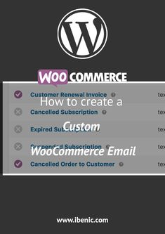Learn how to create a WooCommerce email for your own WooCommerce extensions. Learn Wordpress, Email Templates, Volkswagen Logo, Extensions, Learning, Create, Tips, Advice, Sew In Hairstyles