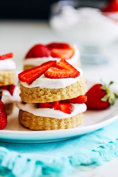 Vegan and Gluten-free Strawberry Shortcakes- just one bowl and 15 minutes is all you need to prepare these delicious shortcakes! | Making Thyme for Health