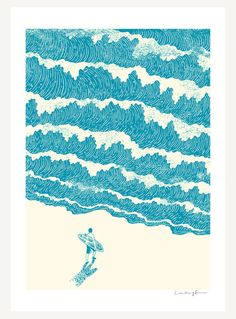 To The Sea - Print. $30.00, via Etsy.