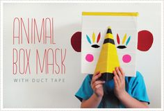DIY Animal Box Masks. Image 3.  - possible sunglasses!  #masks #sunglasses fun