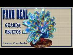 PAVO REAL GUARDA OBJETOS - YouTube Clay Tutorials, Paper Art, Projects To Try, Miniatures, Halloween, Flowers, How To Make, Crafts, Diy