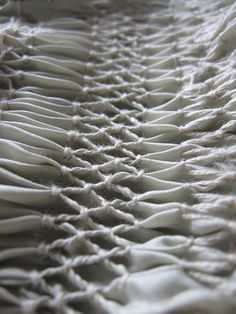 Fabric Manipulation smocking sample - creative sewing techniques #textiles tinctory via flickr
