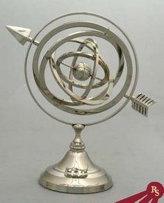 NICKEL PLATED ARMILLARY SPHERE - Globe - ASTROLABE | eBay