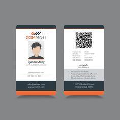 Simple et moderne ID identité d'entreprise Vecteur gratuit