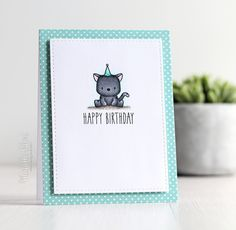 The Card Grotto: When A Tiger Becomes A Cat   happy birthday