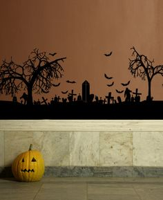 halloween wall decal art vinyl sticker bats zombies by happywallz 3999