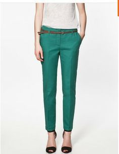 2013 za Brand Women Pants,Plus Size Long Pencil Pants,Elegnat Fashion Leisure Trousers With Belt,Candy Color,Free Shipping LW389 US $18.53