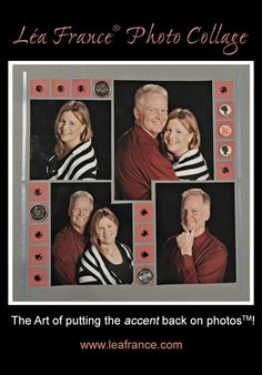 Photo Collage created by Karen, using Lea France Grid Stencil. #PhotoCollage #Art #Scrapbook #Crafts #DIY #LeaFrancePhotoCollage