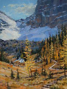 High Trail-Canadian Rockies  16 x 12 Oil