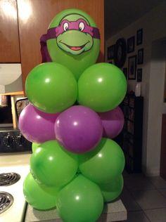 Teenage Mutant Ninja Turtles balloon centerpiece ... shellysdecor4you@gmail.com #Birthdays #BabyShowers #Graduations etc...
