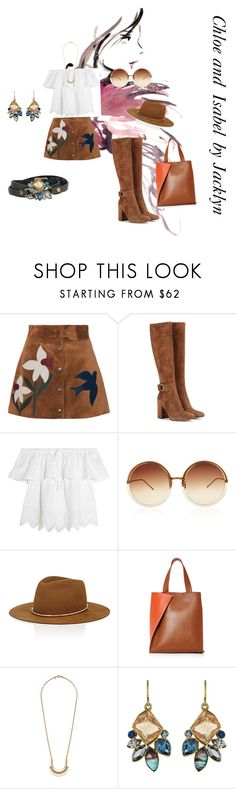 """Candi by Jacklyn"" by lvly247 on Polyvore featuring RED Valentino, Gianvito Rossi, Madewell, Linda Farrow, Janessa Leone, Paule Ka and Chloe + Isabel"