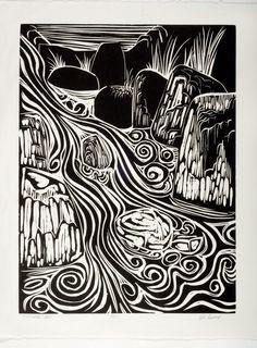 Shoreline Area News: Ed Essex Print Retrospective / City of SL Employees Art Show Feb 3 Linocut Prints, Art Prints, Block Prints, Lino Art, Linoleum Block Printing, Illustrator, Linoprint, Stamp Printing, Wood Engraving