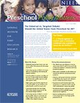 The debate over universal vs. targeted preschool programs is explored in this policy brief. Policy recommendations include a gradual move toward voluntary universal preschool programs with federal matching funds used to encourage states to fund high-quality preschool for all.