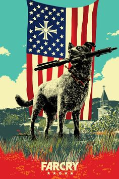Official poster created for the launch of Far Cry 5 by Chris Thornley
