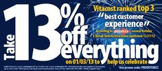 Save 13% on EVERYTHING!