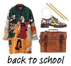 """School."" by yherskowitz ❤ liked on Polyvore featuring Anouki, Ted Baker and Paper Mate"