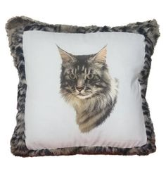 Can't get enough of all things cat-related? Take a look at this charming #MaineCoon cat throw pillow with luxurious faux fur. Won't be able to stop petting it, but no shedding!  Custom made, one at a time! Special order if you have certain style in mind.