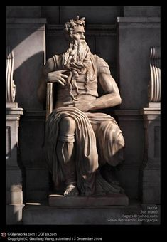 3D computer sculpture in homage to Moses by Michelangelo (Roma, Italia)