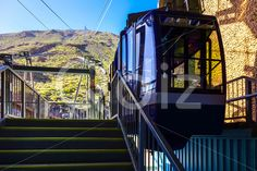 Qdiz Stock Photos Cableway or Funicular Cabine on Platform