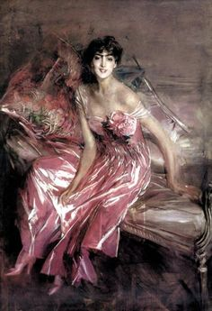 Boldini, Lady in Rose, 1916, Giovanni Boldini