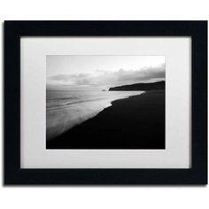Trademark Fine Art 'On the Black Beach' Canvas Art by Philippe Sainte-Laudy, White Matte, Black Frame, Size: 16 x 20, Multicolor