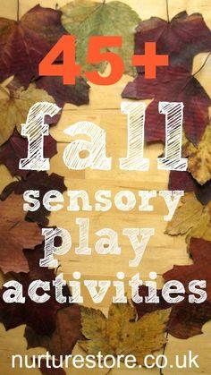 fall sensory play activities :: autumn sensory play recipes