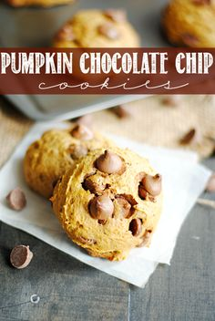 This Pumpkin Chocolate Chip Cookie recipe is a classic and my very favorite!