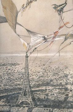 AEROLIVING LABS from AERIAL PARIS • 1989 • by Lebbeus Woods http://lebbeuswoods.wordpress.com