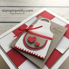 Learn how to create a Mothers Day Card or Valentine using Stampin Up Apron of Love - Mary Fish StampinUp Idea
