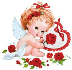 Morehead - Vivian Verdi - Álbuns da web do Picasa Angel Images, Angel Pictures, Alphabet Coloring Pages, Vintage Valentine Cards, Precious Children, Angel Art, Christmas Angels, Happy Valentines Day, Red Roses