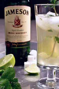 Leprechaun Mojito, for those who prefer not to drink green beer on St. Patrick's Day…
