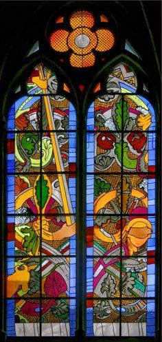 讓 - 米歇爾·Alberola  - 多米尼克Duchemin(主玻璃藝術家):以撒的犧牲
